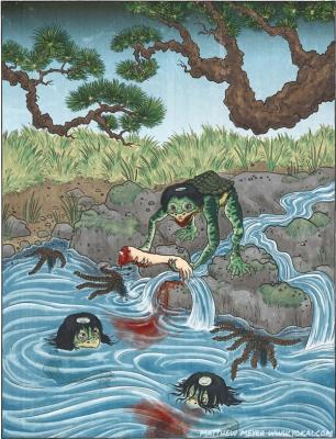 Каппа. Иллюстрация Мэтью Мэйера