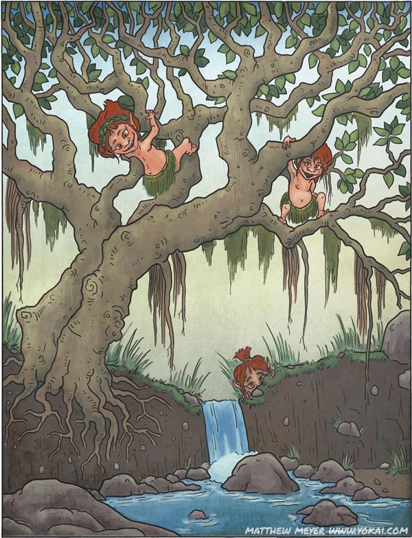 Кидзимуна. Иллюстрация Мэтью Мэйера