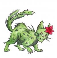 """Кактусовый кот. Иллюстрация Фионы Эванс для книги """"Compendium of North American Cryptids & Magical Creatures"""""""