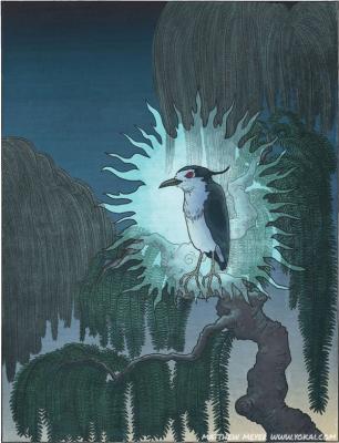 Аосаги-би. Иллюстрация Мэтью Мэйера