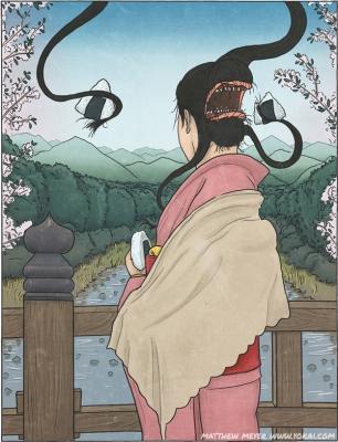 Футакути-онна. Иллюстрация Мэтью Мэйера