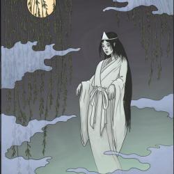 """Юрэй. Иллюстрация Мэтью Мэйера к книге """"Ночной парад сотни демонов"""""""