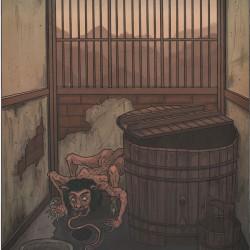 """Аканамэ. Иллюстрация Мэтью Мэйера к книге """"Ночной парад сотни демонов"""""""
