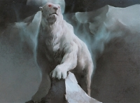 "Фюльгья-медведь. Иллюстрация Ёкота Кацуми для карты ККИ ""Magic: The Gathering"""