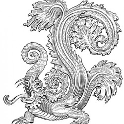 Макара. Прорисовка с бронзовой фигурки