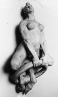 Скульптурное изображение сатирессы