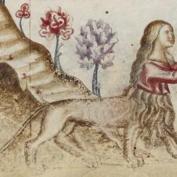 Изображение женского леонтокентавра в виде кающейся Марии Магдалины