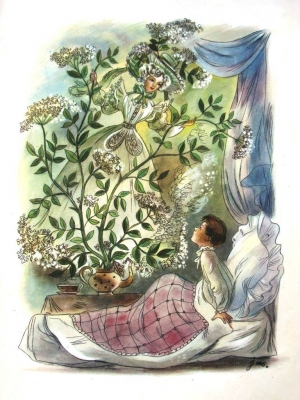 Бузинная матушка. Иллюстрация Яна Шанцера к сказке Г.Х.Андерсена
