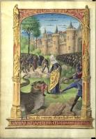Св. Марта и Тараск. Иллюстрация из часослова Луи де Лаваля