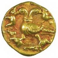 Гандаберунда на монете правителя Виджаянагарской империи царя Ачьютадеварайи (1529-1542 годы)