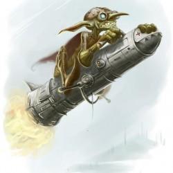 Гоблин-ракетчик. Иллюстрация Скотта Парди (Scott Purdy)