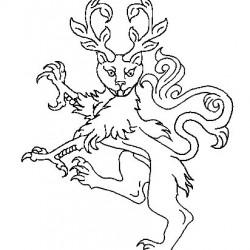 Calygreyhound. Геральдическое изображение с герба рода де Вер, графов Оксфорд