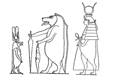 Типы изображения богини Таурт
