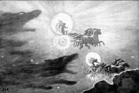 """""""Волки, преследующие Соль и Мани"""". Картина Джона Доллмана"""