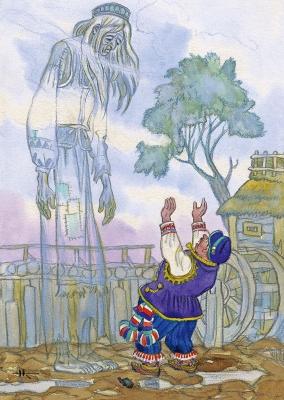 Горе горькое. Иллюстрация Николая Кочергина к литовской сказке