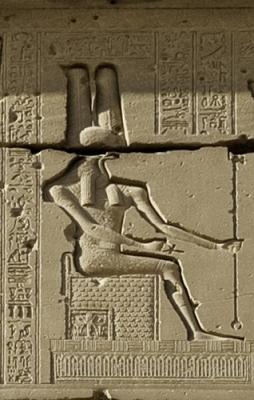Меритсегер. Барельеф с надвходной балки храма Хатхор в Дендере