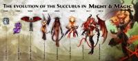 Эволюция суккубов в серии игр Might&Magic