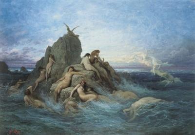 Океаниды, нимфы моря. Картина Густава Доре, примерно 1860-е годы