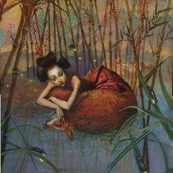 Кицунэ на иллюстрации Анны Байбаковой