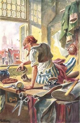 Храбрый портняжка. Иллюстрация Г.Хинке к сказке братьев Гримм