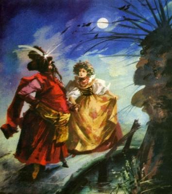 Красный жупан. Иллюстрация Марии Орловской-Габрысь к силезской сказке