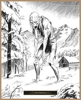 Вендиго. Иллюстрация Клаудио Санчеса Вивероса