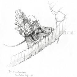 Отправление боггана в Америку. Рисунок Жана-Батиста Монжа