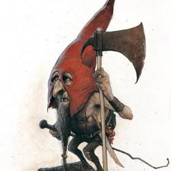 Гоблин из племени Красных Шапок (Red Cap). Иллюстрация Жана-Батиста Монжа