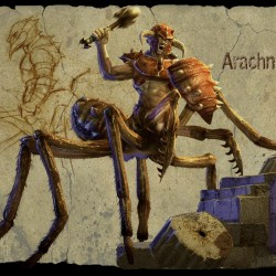 Арахнид-драйдер из игры Titan Quest