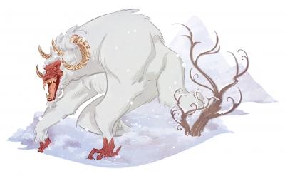 Йети. Иллюстрация Александрии Хантингтон