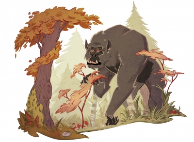 Бигфут. Иллюстрация Александрии Хантингтон