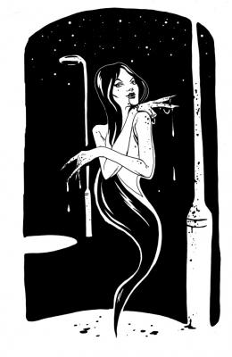 """Понтианак. Иллюстрация Мод Кадира (Mohd Kadir) для """"Малазийской книги нежити"""""""