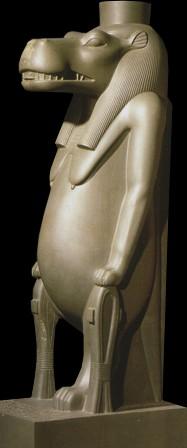 Статуя богини Таурт. XXVI династия, правление Псамметиха I