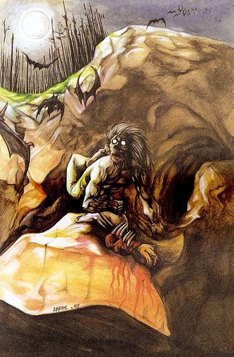 """Имбунче. Иллюстрация из книги """"Guía Mitológica Ilustrada de Chile"""" (2007)"""