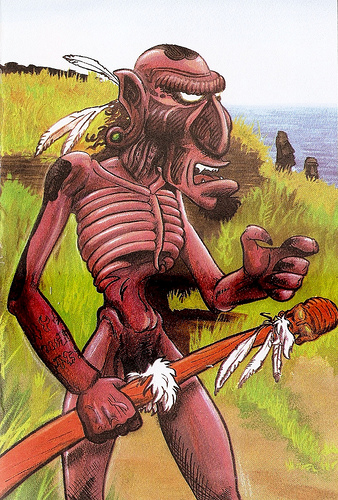 """Татане. Иллюстрация из книги """"Guía Mitológica Ilustrada de Chile"""" (2007)"""