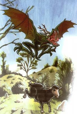 """Пьючен. Иллюстрация из книги """"Guía Mitológica Ilustrada de Chile"""" (2007)"""