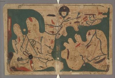 Карта мира. Рукопись Бодлеянской библиотеки (MS. Arab. c. 90, fol. 23v.-24r.)