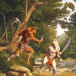 Земля минотавров. Иллюстрация Ларри Элмора к книге серии Dragon Lance