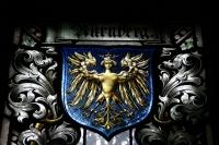 Витраж с изображением гарпии как герба города Нюрнберг