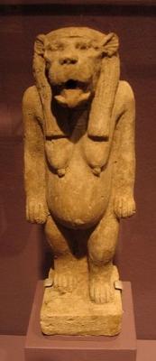 Статуэтка богини-бегемота Таурт с головой львицы