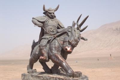 Статуя Ню Мо-вана в Безеклике (Синьцзян-Уйгурский автономный район, Китай)