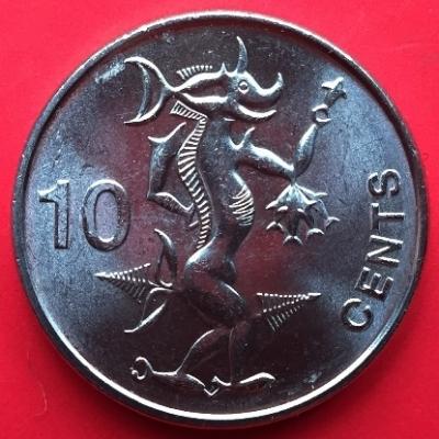Адаро-Нгореру. Монета Соломоновых островов номиналом 10 центов
