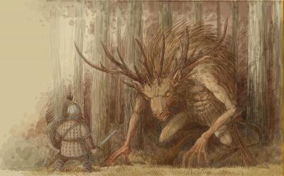 Bies (Бес). Иллюстрация Павла Зыха (Paweł Zych)