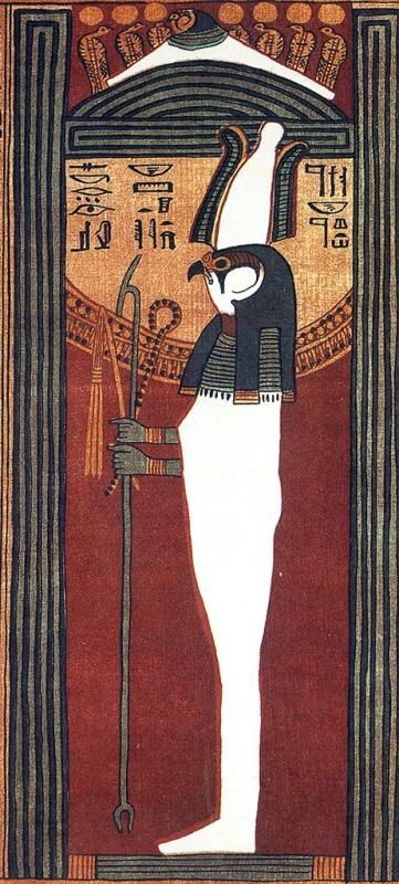 Покровитель мертвых Сокар-Осирис. Папирус Ани (фрагмент)