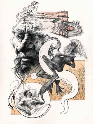 Водяник. Иллюстрация Михаила Чернодедова