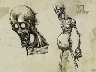 Преты. Рисунок Франсиско Варгаса