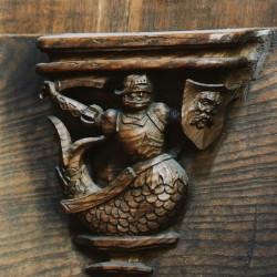 Зеериттер. Резное изображение с мизерикордии Церкви богоматери в Арсхоте (Фламандский Брабант)
