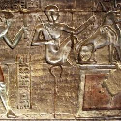 Амт и Тот на барельефах из гробницы Дейр Эль-Медина