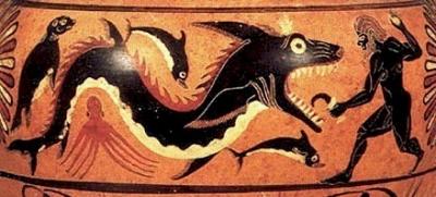 Герой убивает морское чудовище