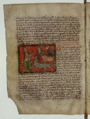 Адам даёт имена животным. Рукопись Французской национальной библиотеки (Latin 3630, fol.82v.)